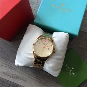 Kate spade gold pink watch MSRP $225 new!